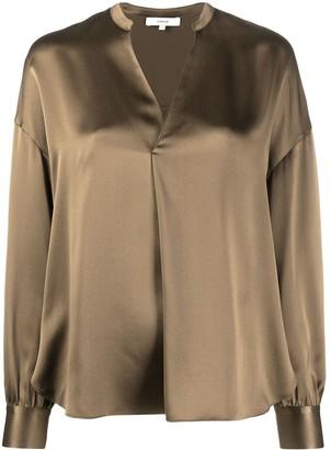 Vince V-neck silk blouse