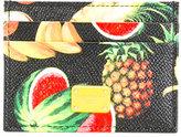 Dolce & Gabbana tropical fruit print card holder