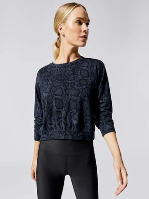 Sundry Python Crop Blouson Sweatshirt
