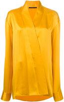 Haider Ackermann wrap effect shirt