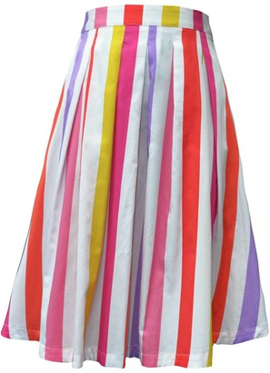 My Pair Of Jeans Lilac Mexico Midi Skirt