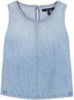 J Brand Tayla Cotton And Linen Denim Top