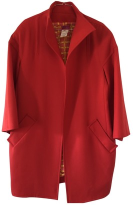 Christian Lacroix Red Wool Coat for Women Vintage