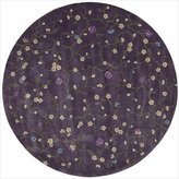 Nourison 85228 Julian Area Rug Collection Lavender 8 ft x 8 ft Round