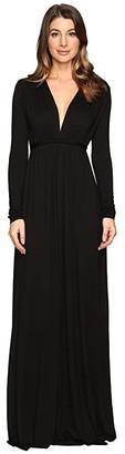 Rachel Pally Long Sleeve Full Length Caftan (Black) Women's Dress