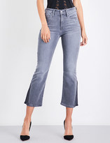 Good American Mini Boot bootcut cropped jeans