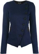 Emporio Armani button up fitted jacket - women - Cotton/Polyamide/Spandex/Elastane/Viscose - 40
