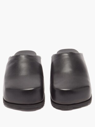 YUME YUME Faux-leather Slippers - Black
