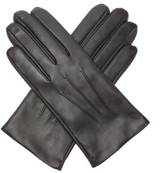 Dents Bath Cashmere Lined Leather Gloves - Mens - Black