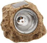 Camilla And Marc Star 11.5 cm x 15 cm LED-Solar-Rock with Solar Panel and Rechargeable Battery - Warm White (3 Pieces)