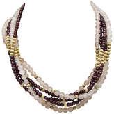 One Kings Lane Vintage Quartz & Garnet Necklace