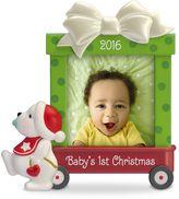 Hallmark Beary Cute Baby's First Christmas Photo Holder 2016 Keepsake Christmas Ornament
