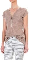 Andrea Jovine AJ Exposed Zipper Dolman Shirt - Short Sleeve (For Women)