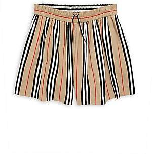 Burberry Women's Little Girl's & Girl's KG4 Marcy Icon Woven Shorts