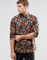 Pretty Green Shirt In All Over Camo Print In Slim Fit