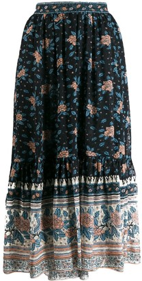 Ulla Johnson Floral Print Gypsy Skirt