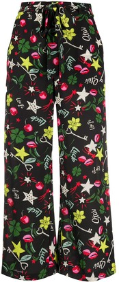 Liu Jo Lucky Pop-print straight trousers