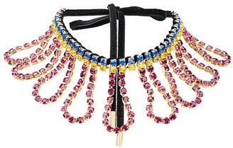 Area Crystal-Embellished Necklace