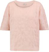 Current/Elliott The Pocket Embroidered Slub Cotton-Blend Top