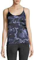 ATM Anthony Thomas Melillo Garment Washed Camo Silk Camisole