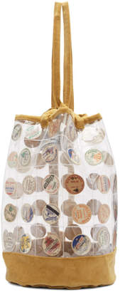 Bode Transparent and Tan Top Sling Backpack