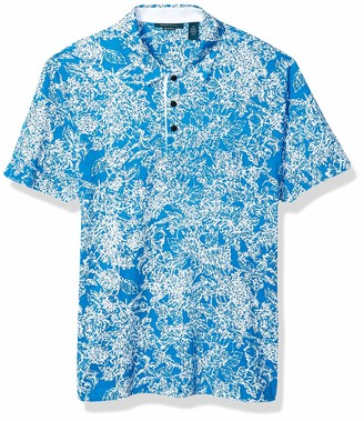 Perry Ellis Men's Floral Pima Cotton Polo Shirt