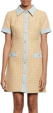 Sandro Mella Tweed Mini Dress