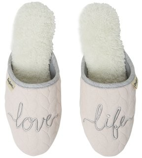 Dearfoams Women's Cable Quilt Novelty Scuff slippers