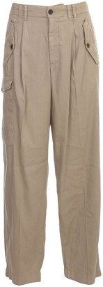 Giorgio Armani Cargo Pants Elastic Ankle Cotton And Linen