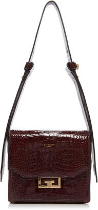 Givenchy Eden Small Croc-Embossed Leather Shoulder Bag