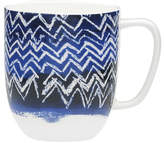 David Jones Shibori Blue Cheveron Mug