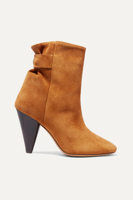 Isabel Marant Lystal Suede Ankle Boots - Tan