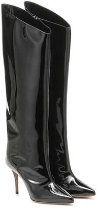Alexandre Vauthier Alex patent leather knee-high boots