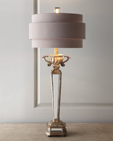 Horchow Mirrored Table Lamp