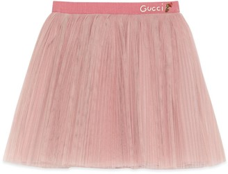 Gucci Baby tulle skirt with embroidery