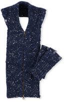 Veronica Beard Jasmine Melange Sweater Dickey, Blue