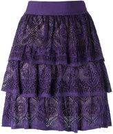 Cecilia Prado ruffled knit skirt - women - Acrylic/Viscose - P