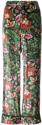 F.R.S For Restless Sleepers Velvet Floral Trousers
