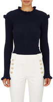 Derek Lam 10 Crosby Women's Cashmere Embellished Rib-Knit Sweater-NAVY