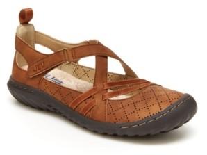 JBU Women's Nicole Casual Mary Jane Flats Women's Shoes