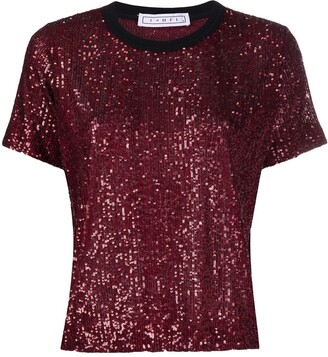 In The Mood For Love Tanya sequinned T-shirt