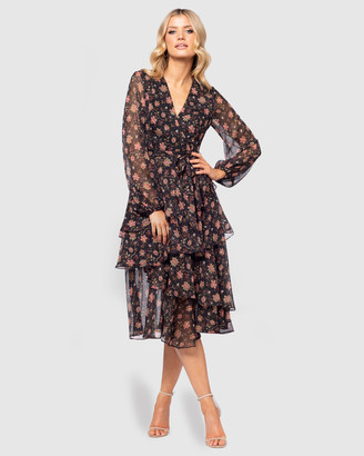 Pilgrim Women's Black Midi Dresses - Madelyn Dress - Size One Size, 6 at The Iconic
