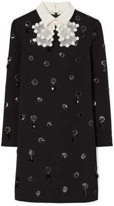 Tory Burch Jewel-Embroidered Shift Dress