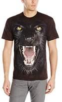 The Mountain Men's Big Face Panther Adult T-Shirt