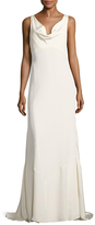Nicole Miller Heavy Stretch Draped A-Line Gown