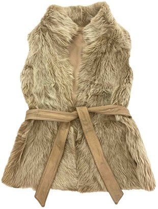 LK Bennett Beige Leather Jacket for Women