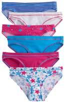 Hanes Girls 8-12 5-pack + 1 Bonus Bikini Panties