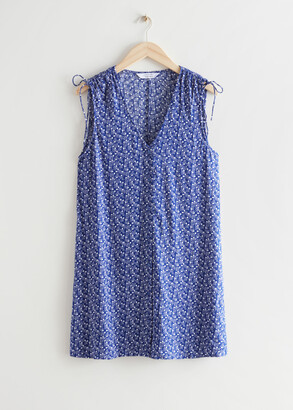 And other stories Sleeveless Printed Mini Dress