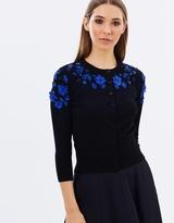 Karen Millen Floral Applique Cardigan