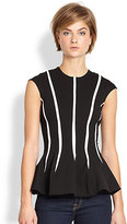 Torn By Ronny Kobo Delilah Striped Stretch Jersey Peplum Top